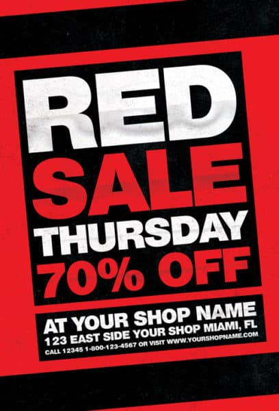 Red Thursday Free Flyer Template