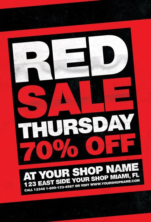 Freepsdflyer  Red Thursday Free Flyer Template  Download For Photoshop