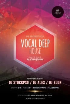 Vocal Deep House Free Flyer Template