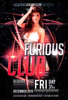 Hot Furious Club Free Flyer Template