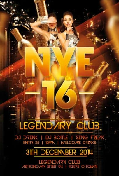 Legendary New Years Eve Free Flyer Template