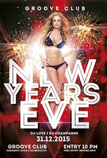 New Years Eve Party Vol 2 Free Flyer Template