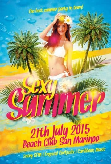Sexy Summer Party Free Flyer Template
