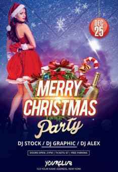 Christmas 2017 Free PSD Flyer Template