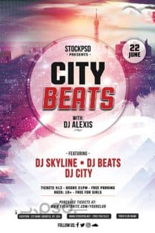 City Beats Free Flyer Template