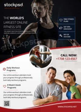 Fitness Gym Sport Free Flyer Template