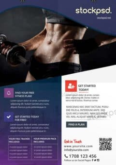 Fitness Gym Sports Free Flyer Template