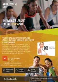 Fitness Gym Health Free Flyer Template