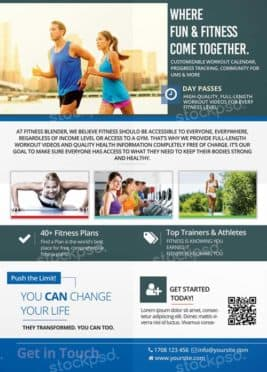 Fitness Sport Free Flyer Template