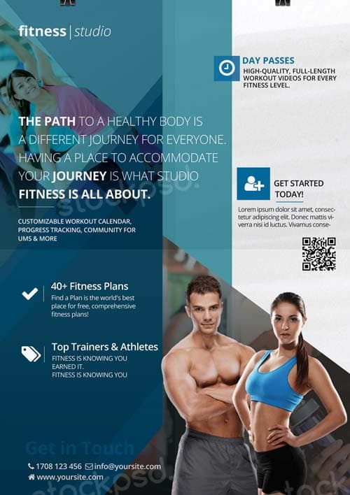 Download Free Fitness Gym Flyer Psd Templates For Photoshop
