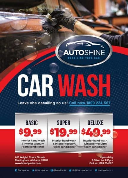 Free Car Wash Business Flyer Template  Download For Photoshop
