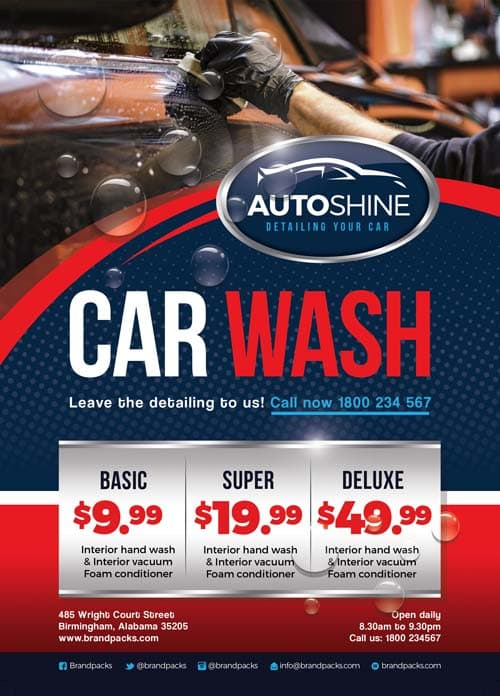 Freepsdflyer Free Car Wash Business Flyer Template