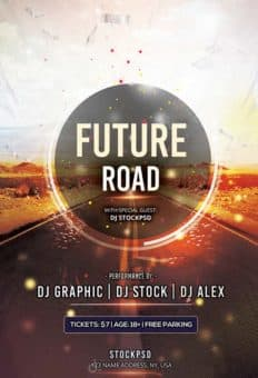 Future Road Free PSD Flyer Template