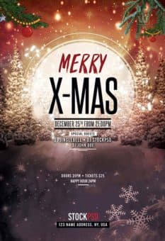 Merry X-Mas 2017 Free Flyer Template
