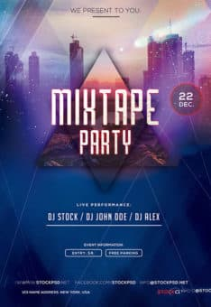 Mixtape Party Free Flyer Template