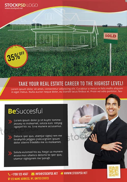 Freepsdflyer Free Real Estate Psd Flyer Template Download For