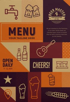 Free Craft Beer Menu Flyer Template