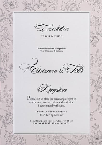 Free Wedding Invitation Flyer Template - Download For Photoshop