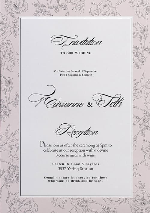 Free Wedding Invitation Flyer Template Download For Photoshop