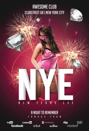 New Years Eve Club Free Flyer Template