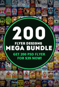 Get the 200 Premium Flyer Template Mega Bundle now!