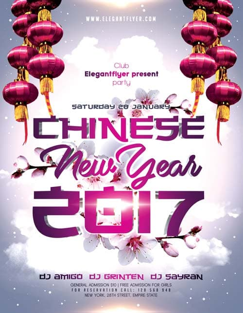 Chinese New Year 2017 Free Flyer Template