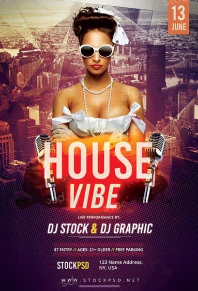 House Vibes Free PSD Flyer Template