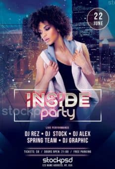 Inside Party Free PSD Flyer Template