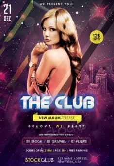 The Club Free PSD Flyer Template
