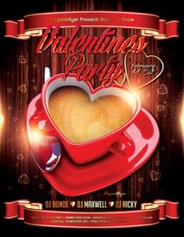 Valentines Party Free Flyer Template