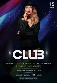 Club Event Free Flyer PSD Template