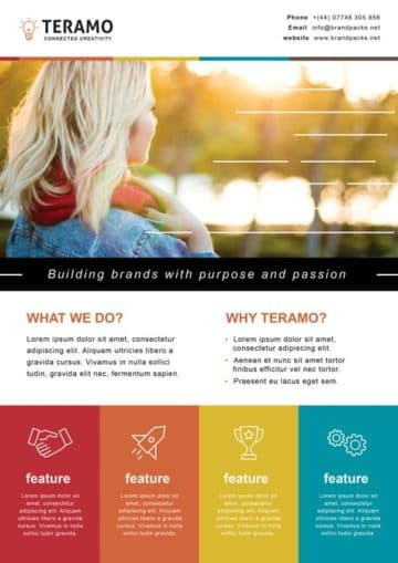 Free Creative Agency Poster Template for Photoshop