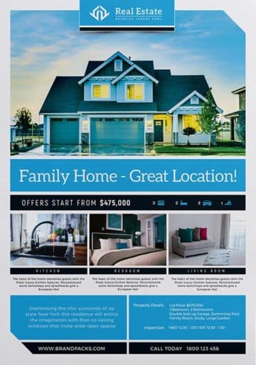 Real Estate Free Poster Template