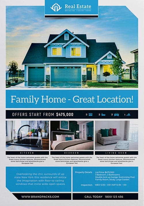 freepsdflyer real estate free poster template download psd poster and flyer templates. Black Bedroom Furniture Sets. Home Design Ideas