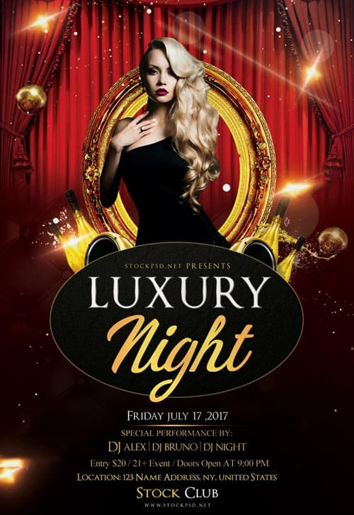 Freepsdflyer Luxury Night Free Flyer Psd Template Download
