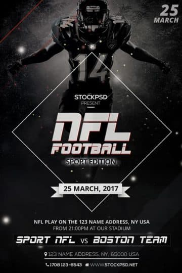 NFL Football Free Flyer PSD Template