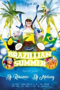 Brazillian Summer Free PSD Flyer Template
