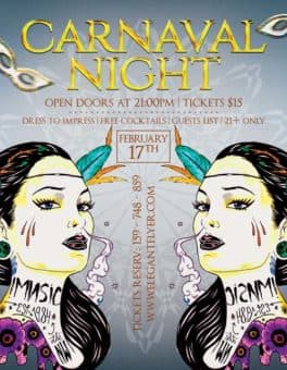 Carnaval Night Free Flyer Template