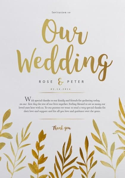 Free Watercolor Wedding Flyer Template  Download Wedding Flyer For