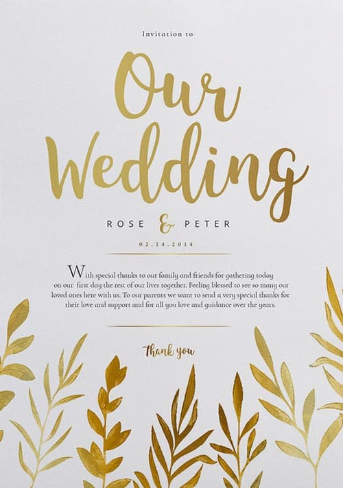 Free Watercolor Wedding Flyer Template Download Wedding
