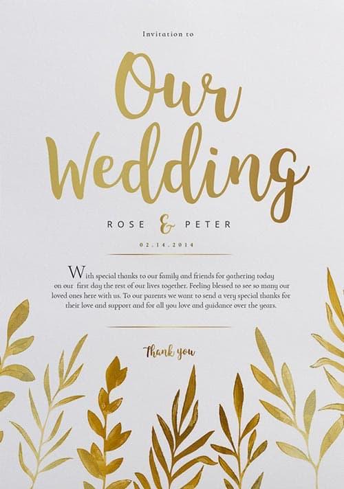 wedding templates free