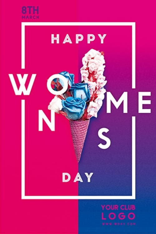 Happy Women's Day Free Flyer Template