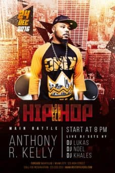 Hip-Hop Battle Free Flyer Template