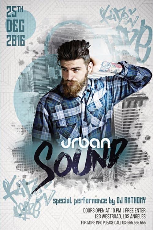 Urban Sound Free Flyer Template