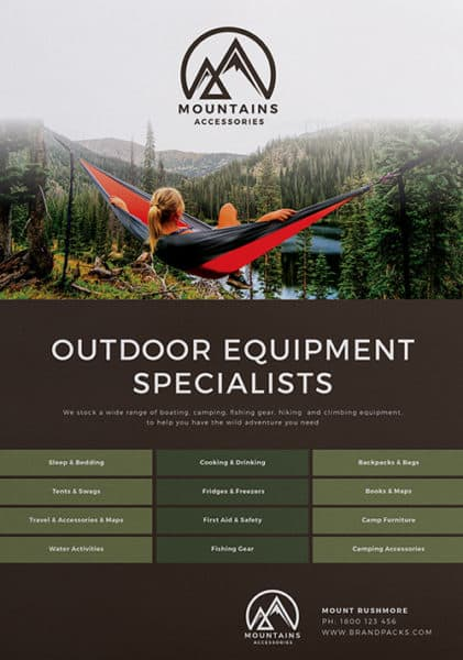 Camping Poster Free Template Pack