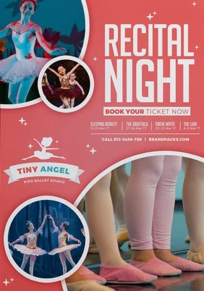 Ballet Dance Event Free Flyer Template