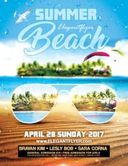 Summer Beach Party Event PSD Flyer Template