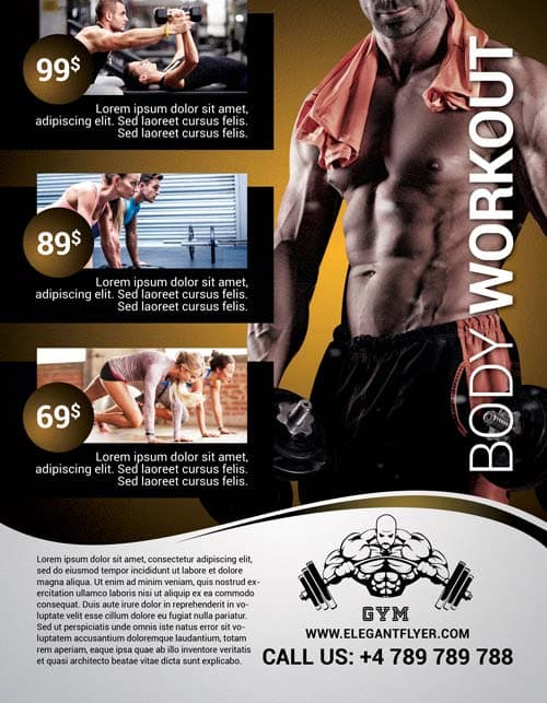 body workout free flyer template download club and party flyer for photoshop. Black Bedroom Furniture Sets. Home Design Ideas