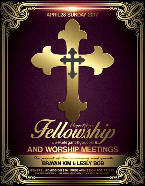 religious flyers template free church meeting event psd flyer template download free