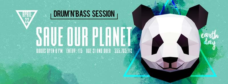 Earth Day Free PSD Flyer Template Facebook Timeline Cover Template